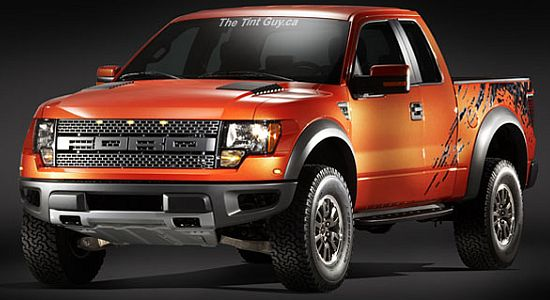 Ford Raptor SVT orange
